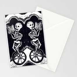 Unicycle Skeletons Stationery Cards