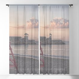 Front Beach After Hours Sheer Curtain