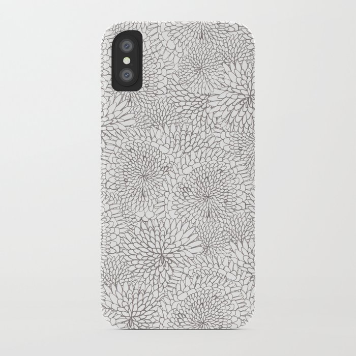 Flowers in lines iPhone Case