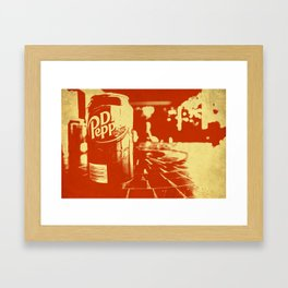 Pop Dr. Pepper Framed Art Print