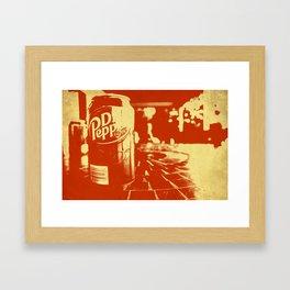 Pop Dr. Pepper Framed Art Print