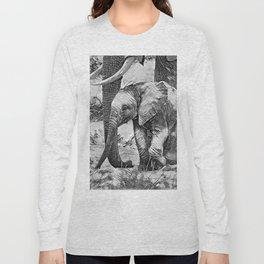 AnimalArtBW_Elephant_20170908_by_JAMColorsSpecial Long Sleeve T-shirt