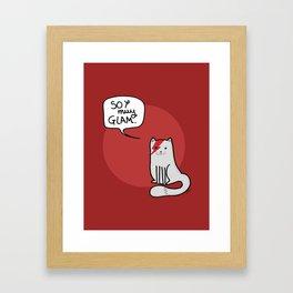 Glam cat (Spanish) Framed Art Print