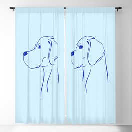 English Pointer (Light Blue and Blue) Blackout Curtain