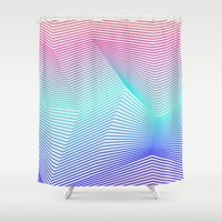 miami Shower Curtains featuring Miami by Three of the Possessed