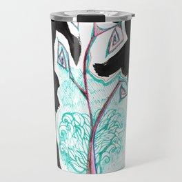 India Ink Flower Pen-and-ink Travel Mug