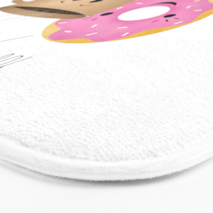 Donut and Coffee     Really Hot and So Sweet Bath Mat