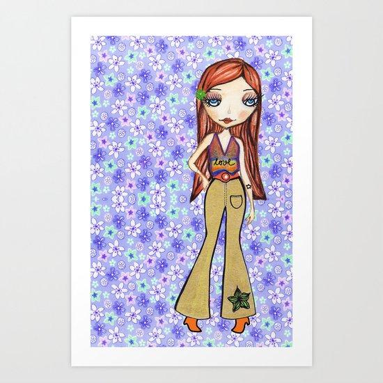 Hippie Heart Art Print