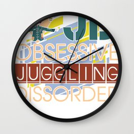 Juggling Juggling Gift Juggler Balls Ball Wall Clock