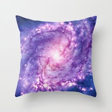 Cosmic vacuum cleaner (Spiral Galaxy M83) Throw Pillow