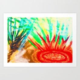 Brushfire breaking out in Florida Art Print