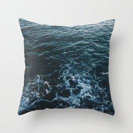 Dark #Sea Throw Pillow