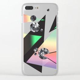 Multicolor Orgasm Clear iPhone Case