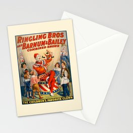 clown barnum Stationery Cards