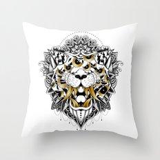 Gold Eyed Tiger Throw Pillow