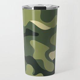Camouflage Camo Green Tan Pattern Travel Mug