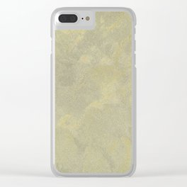 Champagne Skies Silver And Gold Metallic Plasters - Fancy Faux Finishes Clear iPhone Case