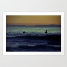 Silent Surf Art Print
