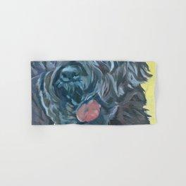 Black Russian Terrier Dog Portrait Hand & Bath Towel