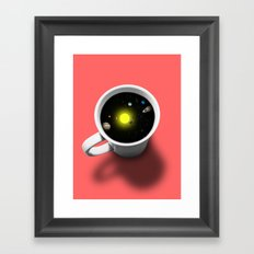 Cup of universe Framed Art Print