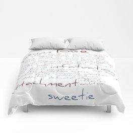 Love Word Cloud Comforters