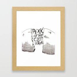 Rock of Ages Framed Art Print