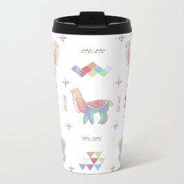 Colorful Alpaca Metal Travel Mug