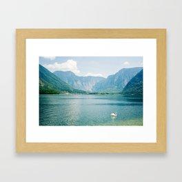 Blue Alps Lake Landscape Framed Art Print