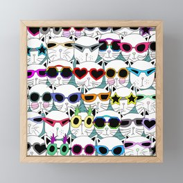 Sunglasses Cats Travel Framed Mini Art Print