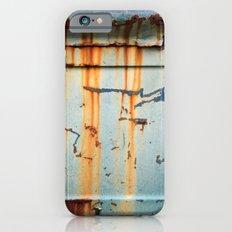 Rust Streaks on Aqua Slim Case iPhone 6s