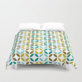 Turquoise and Yellow Retro Duvet Cover
