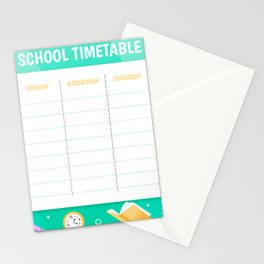 School timetable 1 Stationery Cards