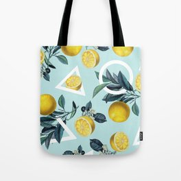 Geometric and Lemon pattern III Tote Bag