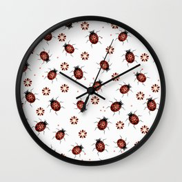 Lady bugs Wall Clock