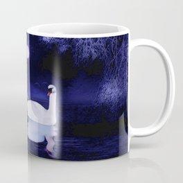 Swan lake at midnight Coffee Mug