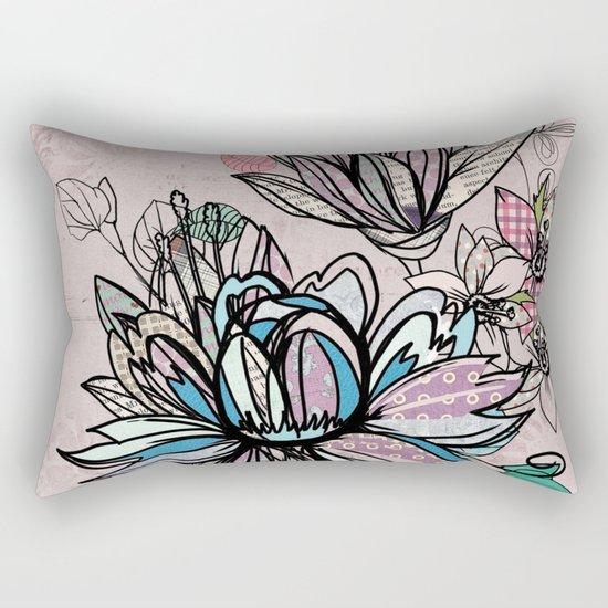 Paper Flowers #1 Rectangular Pillow