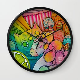 PSYCHO Unicatcake Wall Clock