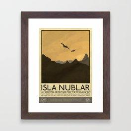 Silver Screen Tourism: Isla Nublar / Jurassic Park World Framed Art Print
