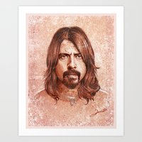 dave grohl Art Prints featuring Dave Grohl by Renato Cunha