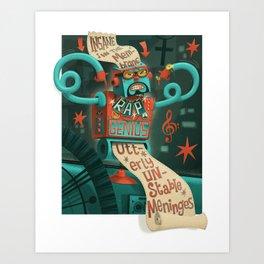 Insane in the... Art Print