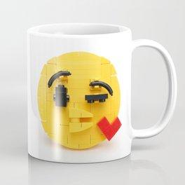Brick-moji Kiss Coffee Mug