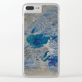 Spilled Paint Clear iPhone Case