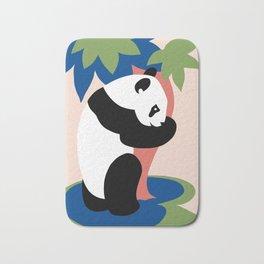 Fun retro adopt a panda Bath Mat