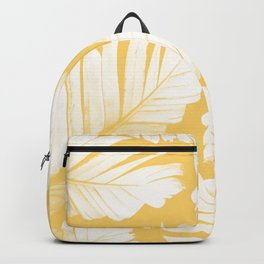 Yellow Banana Leaves Dream #1 #tropical #decor #art #society6 Backpack