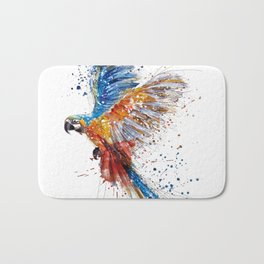 Beautiful Colorful Macaw Bath Mat