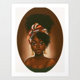K A T H Y la congolaise Art Print
