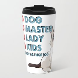 Some truth about family :) Vector animal and bold font, funny quote, meme v2 Travel Mug