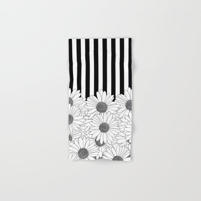 Daisy Stripe Hand & Bath Towel