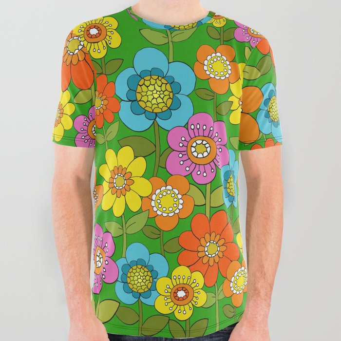 Far out flowers All Over Graphic Tee