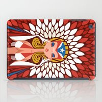 chile iPad Cases featuring FIFA 2014 Samba Girls Series: Chile by Pweety Sexxay